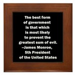 James Monroe Quotation Framed Tile
