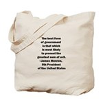 James Monroe Quotation Tote Bag
