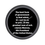 James Monroe Quotation Wall Clock