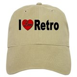 I Love Retro Baseball Cap