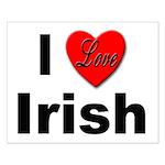 I Love Irish Small Poster
