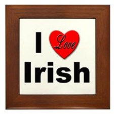 I Love Irish Framed Tile