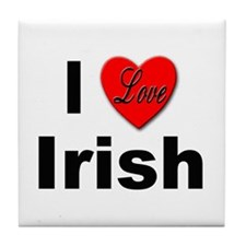 I Love Irish Tile Coaster
