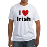 I Love Irish (Front) Fitted T-Shirt