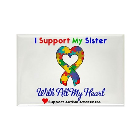 Autism ISupportMy Sister Rectangle Magnet