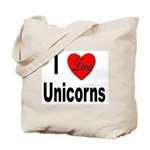 I Love Unicorns Tote Bag
