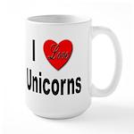 I Love Unicorns Large Mug