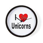 I Love Unicorns Wall Clock