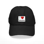 I Love Unicorns Black Cap