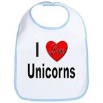 I Love Unicorns Bib