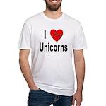 I Love Unicorns Fitted T-Shirt