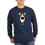 Big Nose Smooth Collie Long Sleeve Dark T-Shirt