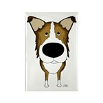 Big Nose Smooth Collie Rectangle Magnet (100 pack)