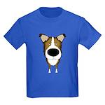 Big Nose Smooth Collie Kids Dark T-Shirt