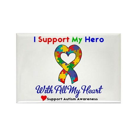 Autism ISupportMy Hero Rectangle Magnet