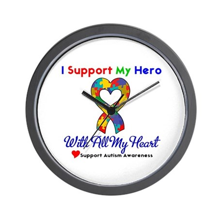 Autism ISupportMy Hero Wall Clock