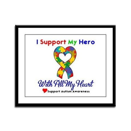 Autism ISupportMy Hero Framed Panel Print