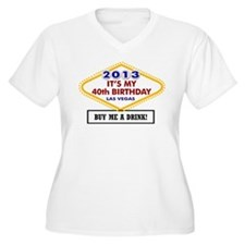 40th Vegas Birthday T-Shirt