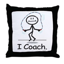 Jump Roping Coach Throw Pillow