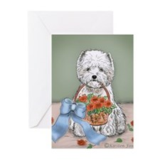 Flower Basket Greeting Cards (Pk of 20)