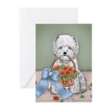 Flower Basket Greeting Cards (Pk of 10)
