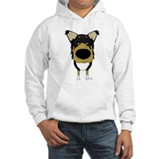 Big Nose/Butt Smooth Collie Hoodie