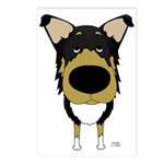 Big Nose Smooth Collie Postcards (Package of 8)
