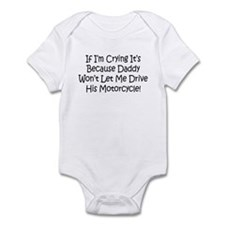 Drive My Daddys Motorcycle Infant Bodysuit
