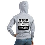 Stop Global Warming Women's Zip Hoodie