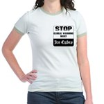 Stop Global Warming Jr. Ringer T-Shirt