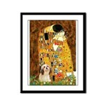 Kiss / Lhasa Apso #4 Framed Panel Print