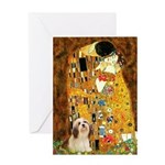Kiss / Lhasa Apso #4 Greeting Card