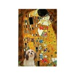 Kiss / Lhasa Apso #4 Rectangle Magnet (10 pack)