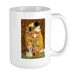 Kiss / Lhasa Apso #4 Large Mug
