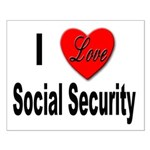 I Love Social Security Small Poster