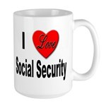 I Love Social Security Large Mug