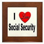 I Love Social Security Framed Tile