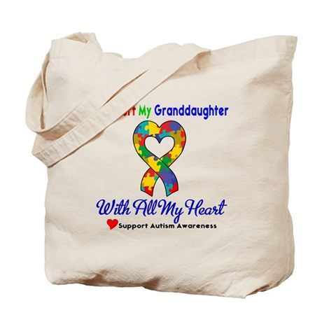 Autism ISupportMy Granddaughter Tote Bag
