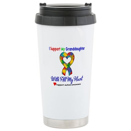 Autism ISupportMy Granddaughter Ceramic Travel Mug