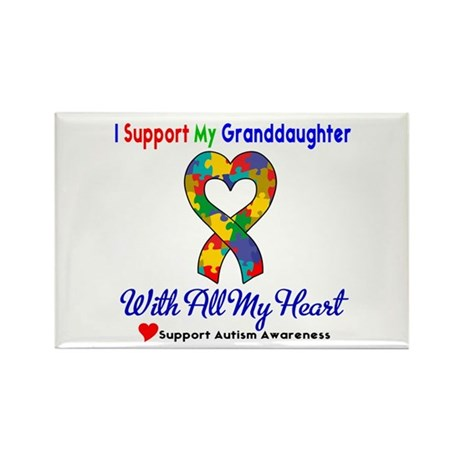 Autism ISupportMy Granddaughter Rectangle Magnet