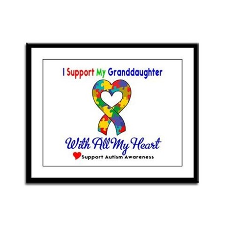 Autism ISupportMy Granddaughter Framed Panel Print