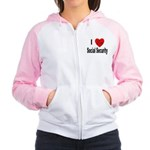 I Love Social Security Women's Raglan Hoodie
