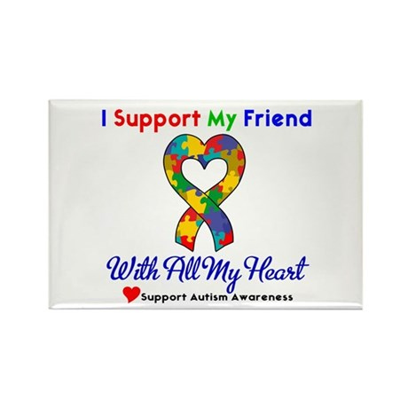 Autism ISupportMy Friend Rectangle Magnet