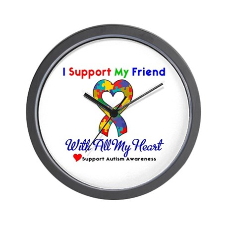 Autism ISupportMy Friend Wall Clock