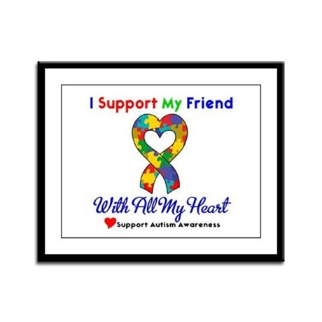 Autism ISupportMy Friend Framed Panel Print