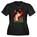 Angel / Lhasa Apso #4 Women's Plus Size V-Neck Dar