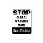 Stop Global Warming Rectangle Sticker 10 pk)