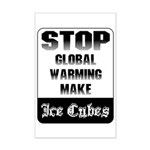 Stop Global Warming Mini Poster Print