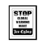 Stop Global Warming Framed Panel Print