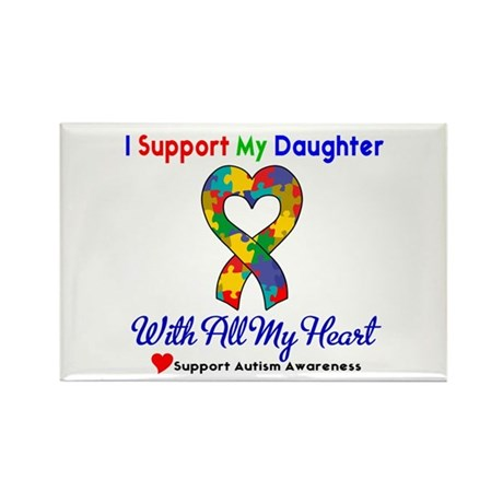 Autism ISupportMy Daughter Rectangle Magnet